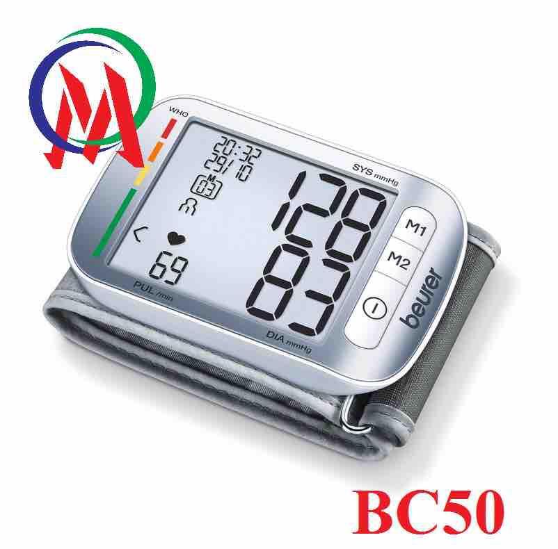Máy đo huyết áp điện tử màn hình lớn Beurer BC50