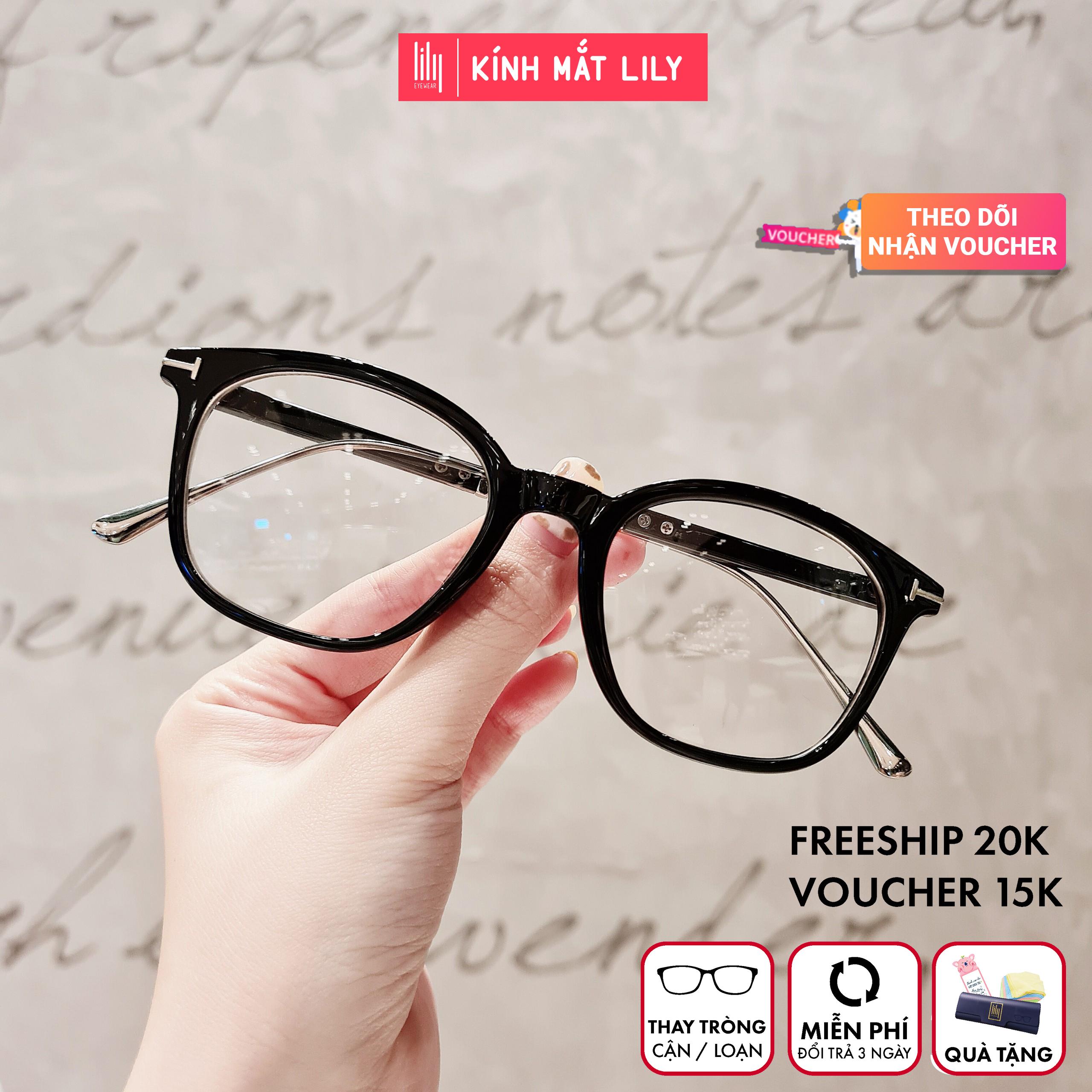 Mua Gọng kính kim loại nữ mắt vuông Lilyeyewear 732 nhẹ nhàng thanh mảnh giúp người đeo thoải mái phù hợp với nhiều khuôn mặt  gọng kính có nhiều màu một size kèm quà