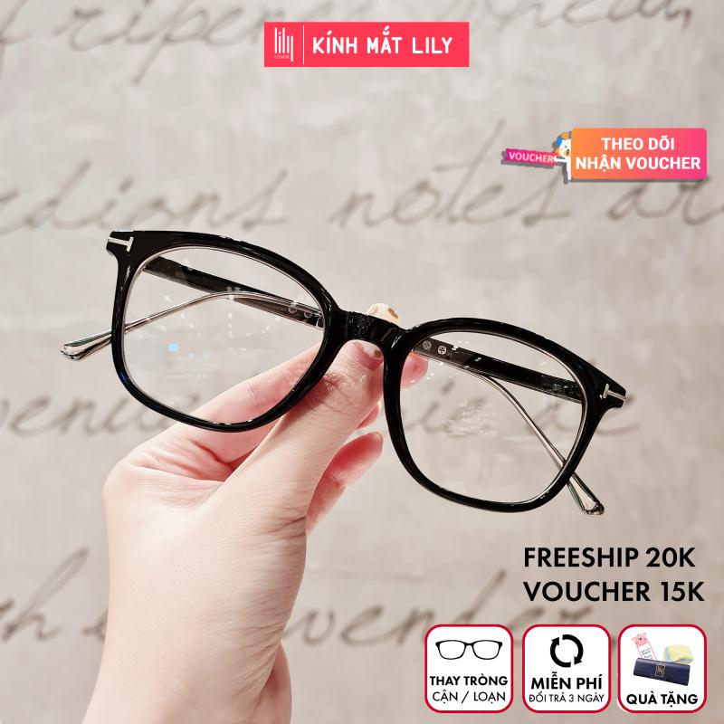 Giá bán Gọng kính kim loại nữ mắt vuông Lilyeyewear 732 nhẹ nhàng thanh mảnh giúp người đeo thoải mái phù hợp với nhiều khuôn mặt  gọng kính có nhiều màu một size kèm quà
