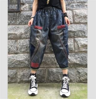 Quần jeans harlan lửng viền chỉ màu - QD441 thumbnail