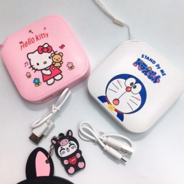 Sạc Dự Phòng Cute - Doremon - Hello Kitty(HÀNG CHÍNH HÃNG)