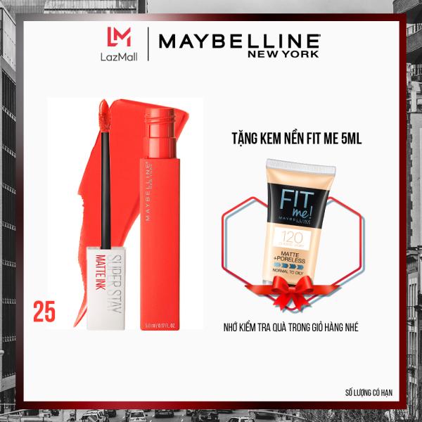 [Nhập voucher giảm 15K] Son Kem Lì 16h Lâu Trôi Maybelline New York Super Stay Matte Ink Lipstick 5ml giá rẻ