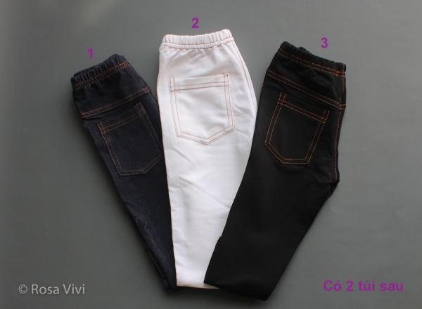 Giá bán Quần legging giả jean có túi cho trẻ em size 1-10