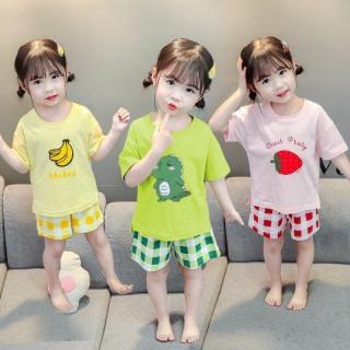 bộ quần áo hè mẫu hoa quả bé yêu thumbnail
