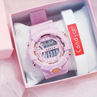 [Giảm giá cao] Eooshop Thời trang Đồng hồ đeo tay Kỹ thuật số Led Thể thao Nam Nữ Trẻ em Đồng hồ Điện tử Nữ sinh viên màu xanh lá cây thumbnail