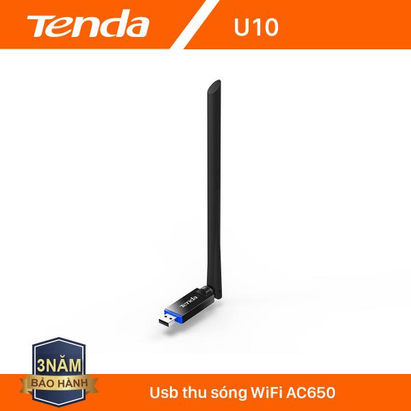 Giá Tenda USB kết nối Wifi U10 chuẩn AC tốc độ 650Mbps - Hãng phân phối chính thức