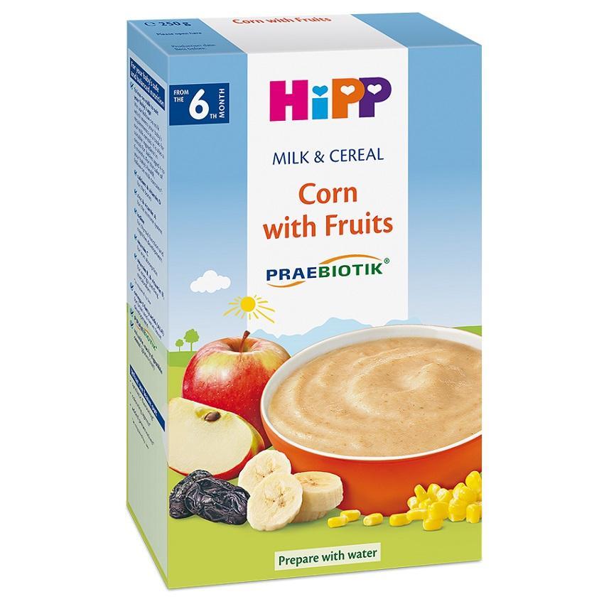 Bột sữa bắp, hoa quả HiPP 250g