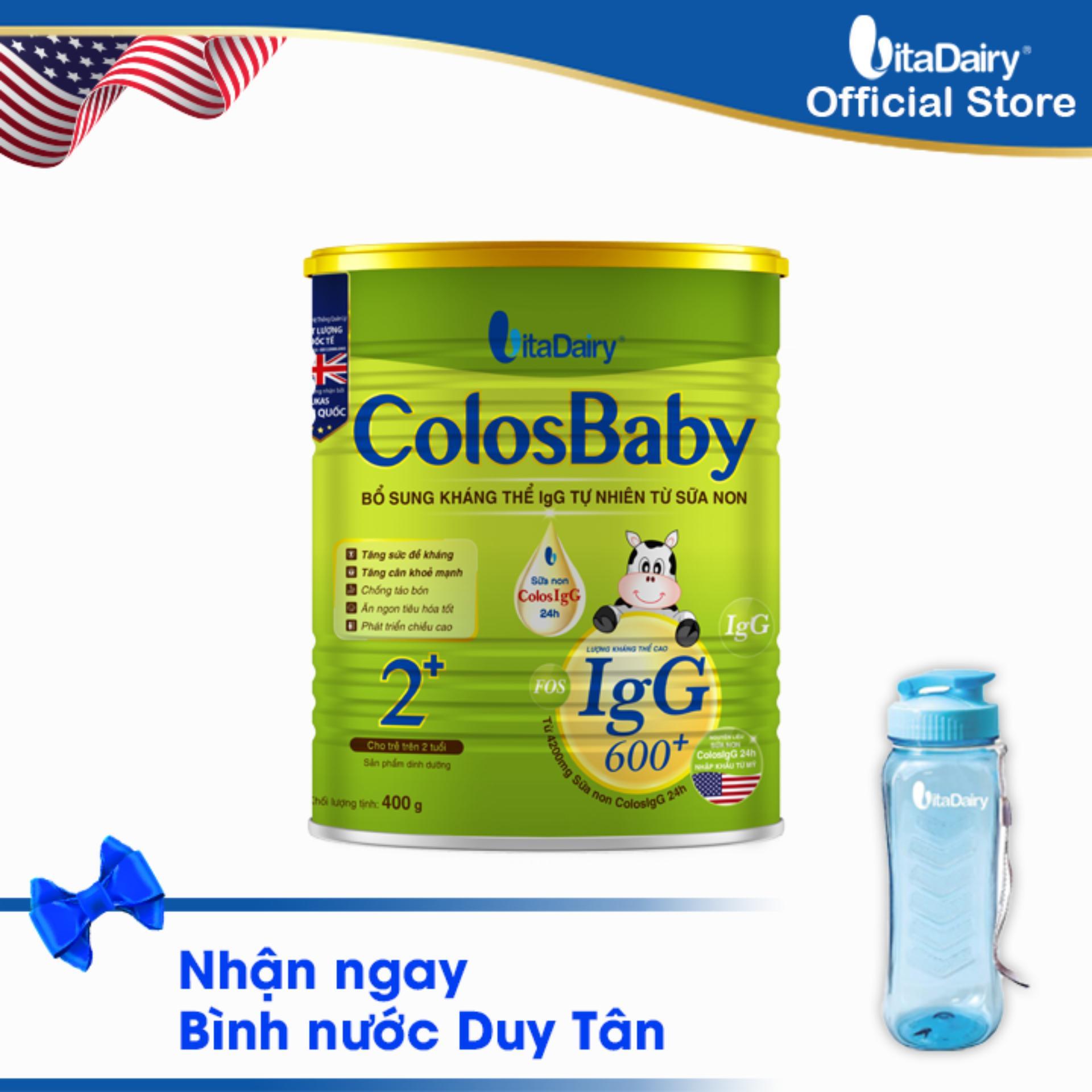 Sữa non COLOSBABY 600 IgG 2+ 400G