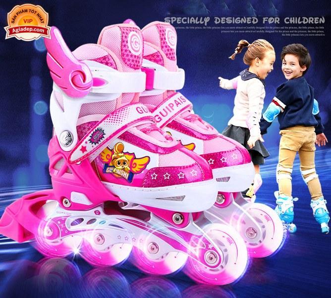 Mua Bộ Giày trượt Patin Cao cấp Gupaisy Bản Nữ có Ánh sáng - Full Mũ + Bộ bảo vệ + Túi + Quà - Giày Patanh xịn xuất Châu Âu
