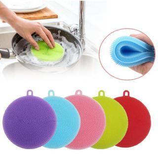 Miếng rửa chén Silicon đa năng siêu sạch (màu ngẫu nhiên) Miếng Rửa Bát Silicon Đa Năng chuyên dụng cho nhà bếp thumbnail