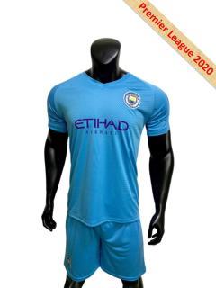 Bộ quần áo bóng đá nam tay ngắn thun lạnh MANCHESTER CITY màu Xanh biển đồ đá banh mới 2020 (fashion-clothes) thumbnail