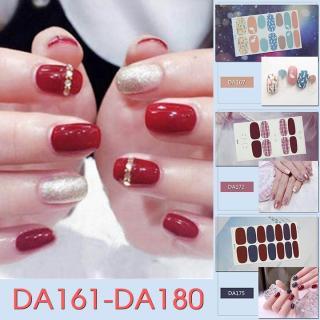 Bộ dán móng tay nail sticker gồm 14 móng mã DA161 - DA180 thumbnail