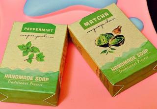XÀ PHÒNG ORGANIC GREEN GARDEN - COFFEE CHOCOLATE MẬT ONG BEER BẠC HÀ MATCHA ĐẬU ĐỎ NGHỆ thumbnail