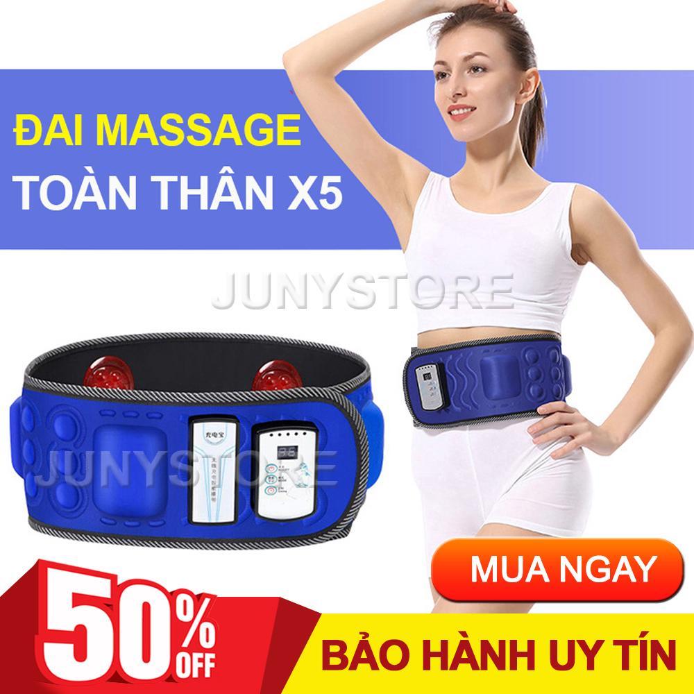 Đai massage giảm mỡ bụng, Đai Massage X5, Máy tập cơ bụng cao cấp, máy mat xa bụng. Giúp bụng phẳng, eo thon, giảm mỡ tích tụ trong cơ thể một cách hiệu quả. Bảo Hành Uy Tín Bởi JUNYSTORE.