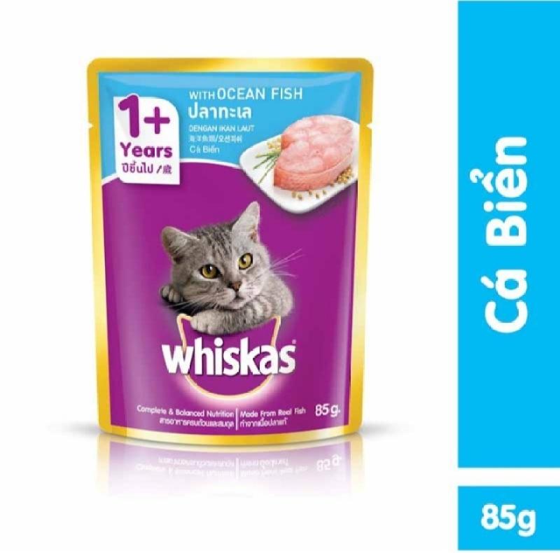 Pate cho mèo Whiskas vị cá biển  85g