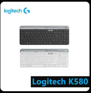 [Hàng Chính Hãng] Bàn Phím Thông Minh Bluetooth Không Dây Logitech K580 Thiết Kế Mỏng Gọn, Sang Trọng,Với 101 Phím Có Lực Nảy Tốt, Nhạy Bén, Hỗ Trợ Kết Nối Bluetooth Và Bộ Thu USB Logitech Unifying 2.4GHz,Dùng Được Với Nhiều Thiết Bị. thumbnail