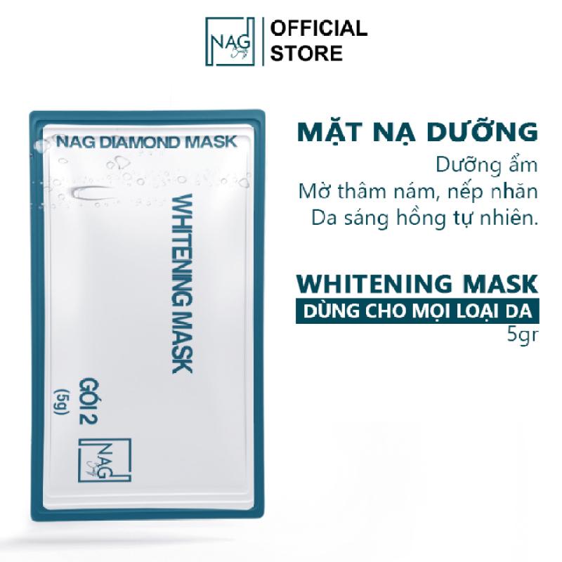 Mặt nạ dưỡng da Whitening Mask NAG mặt nạ dưỡng ẩm trắng da mặt giúp da luôn mềm giảm nám sạm và khô da giá rẻ