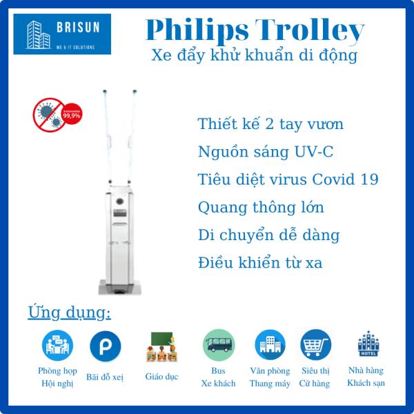 [FreeShip ] Đèn Philips Trolley Philips diệt khuẩn, khử trùng–Bóng Đèn UV, UV-C Philips diệt Virus, vi khuẩn.-Đèn năng lượng-Tia cực tím-Trợ Sán. UV-C di động. Diệt Vi Rút Covid 19-Virus Corona- Sars Cov 2, [Chuẩn Y tế], Nhập khẩu