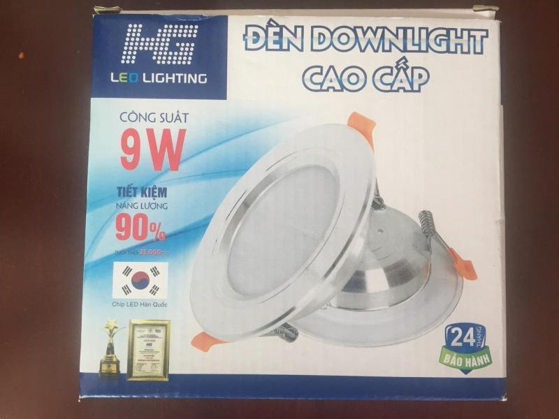 Đèn LED âm trần HG tròn 9W 1 chế độ sáng