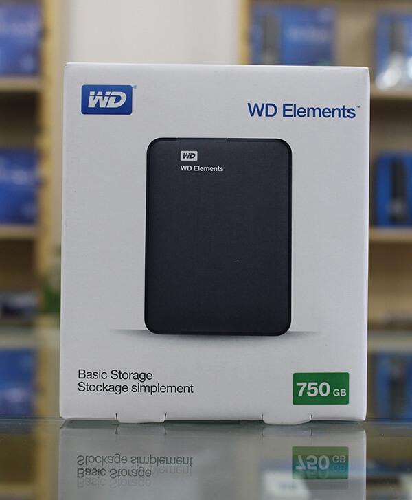 Ổ cứng di động WD Elements 750GB + Bao da chống sốc WD Nhật Bản