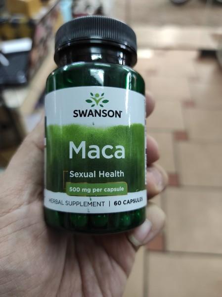 Viên Uống Tăng Cường Sinh Lý Nam Swanson Maca 500mg 60 Viên Của Mỹ Date Mới nhập khẩu