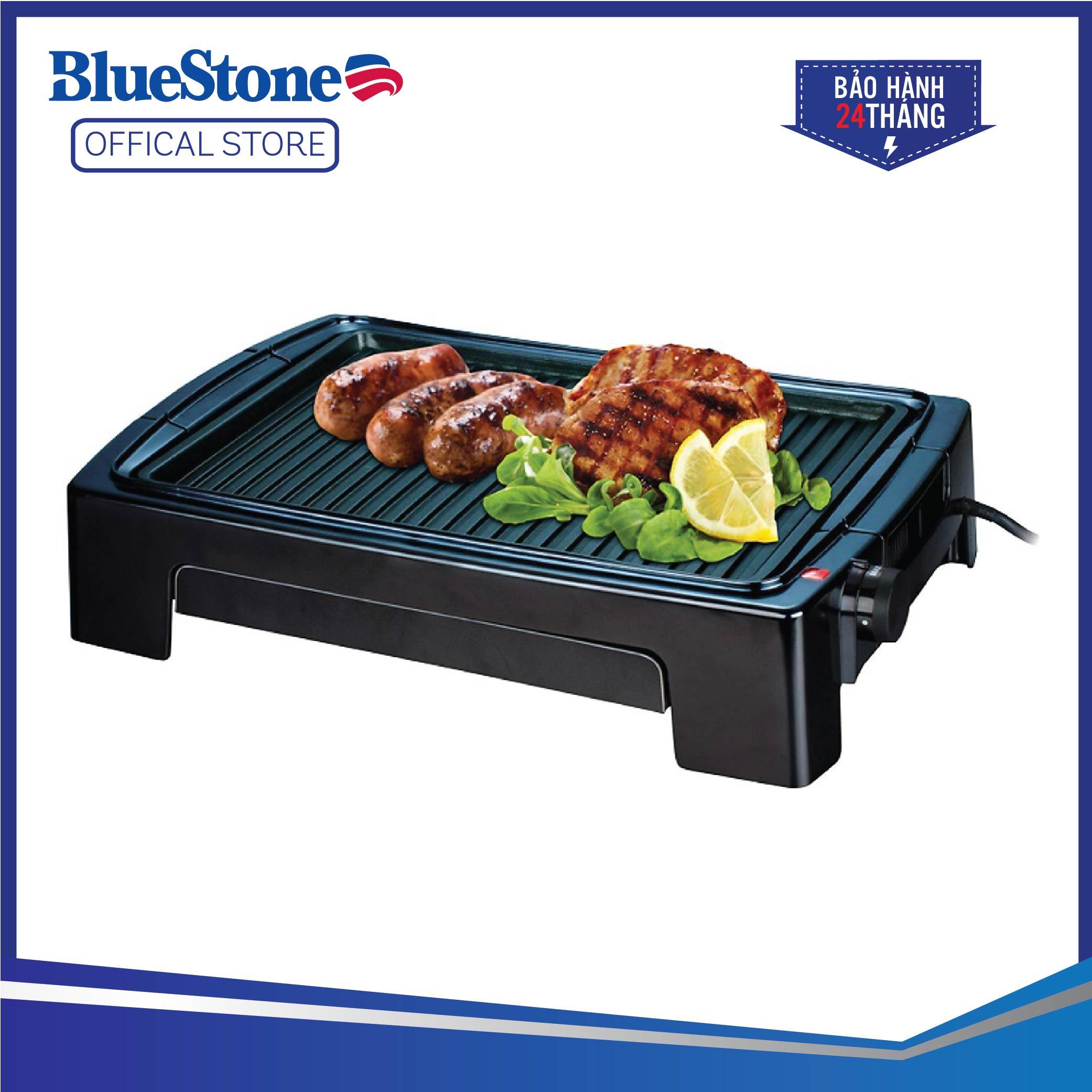 Deal Ưu Đãi Vỉ Nướng điện BlueStone EGB-7418 - Mặt Chống Dính Ceramic, 5 Mức Nhiệt độ - Công Suất 1500W - Bảo Hành 2 Năm - Hàng Chính Hãng