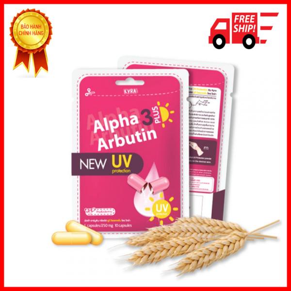 Viên kích trắng Alpha Arbutin 3 Plus Chống Nắng UV+hộp 10 viên tốt nhất