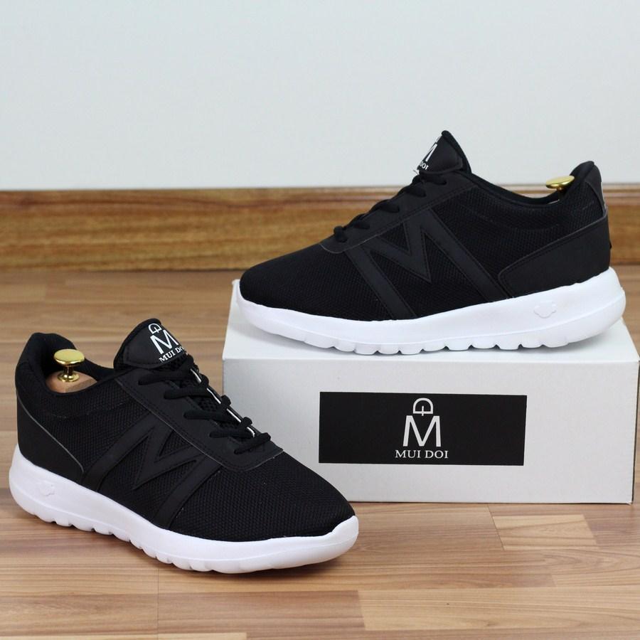 4b693bd39905 Giày thể thao nam Muidoi G145 (Đen) giày nam đẹp đế siêu nhẹ