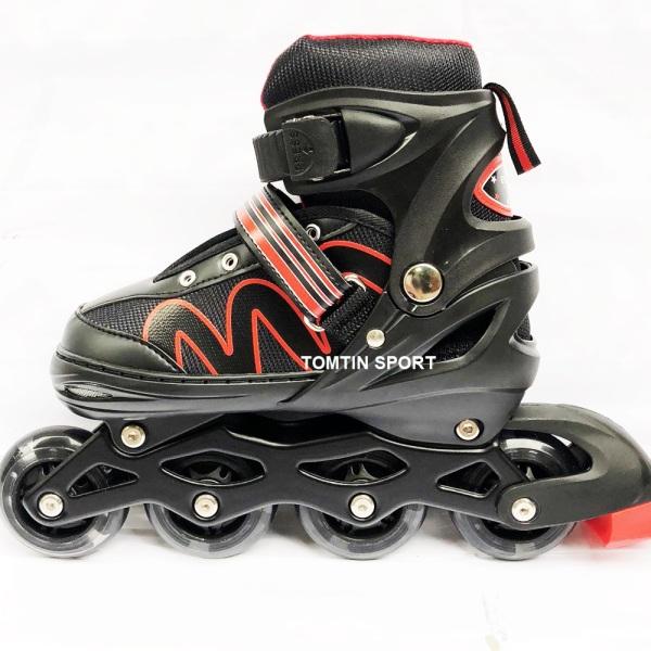 Phân phối [MẪU MỚI] Giày patin có đèn led 8 bánh phát sáng tặng kèm bảo hộ chân tay cho trẻ em từ 3-12 tuổi