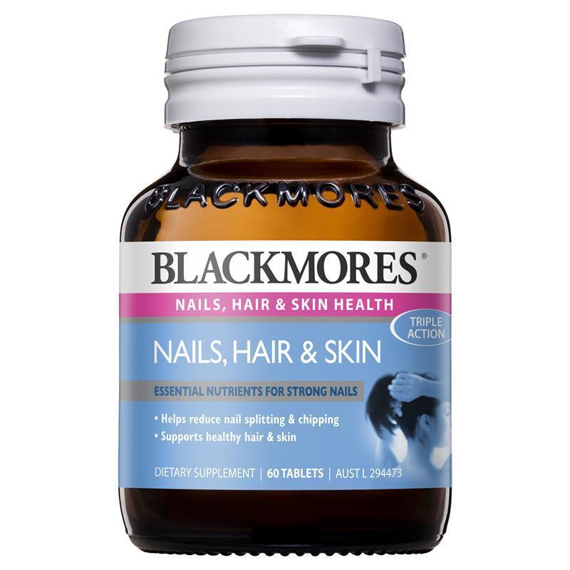 Đẹp tóc, móng, da Blackmores 60 viên Nails, hair & skin