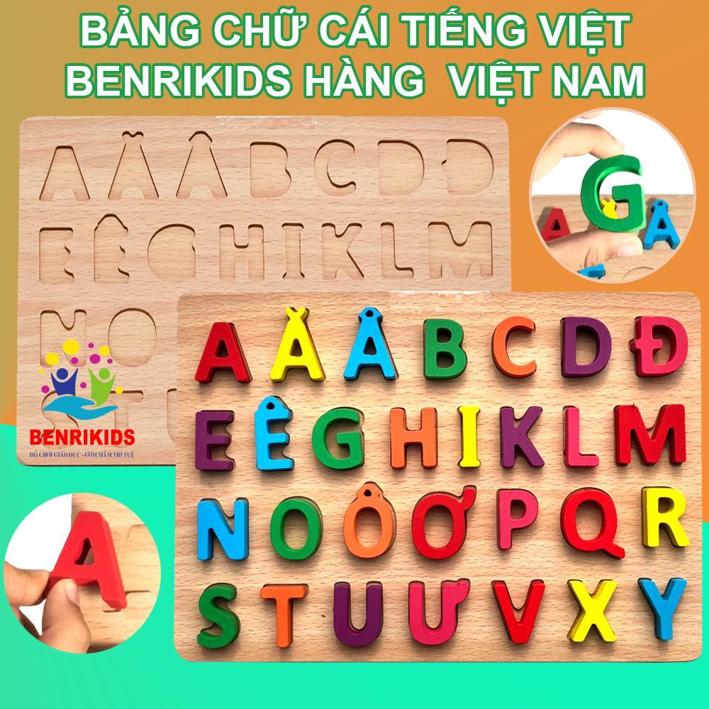 Bảng Chữ Cái In Hoa Tiếng Việt Nổi Bằng Gỗ...