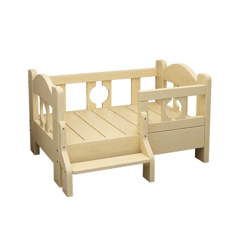 Giường gỗ sang trọng cho thú cưng ( chó và mèo dưới 10kg)