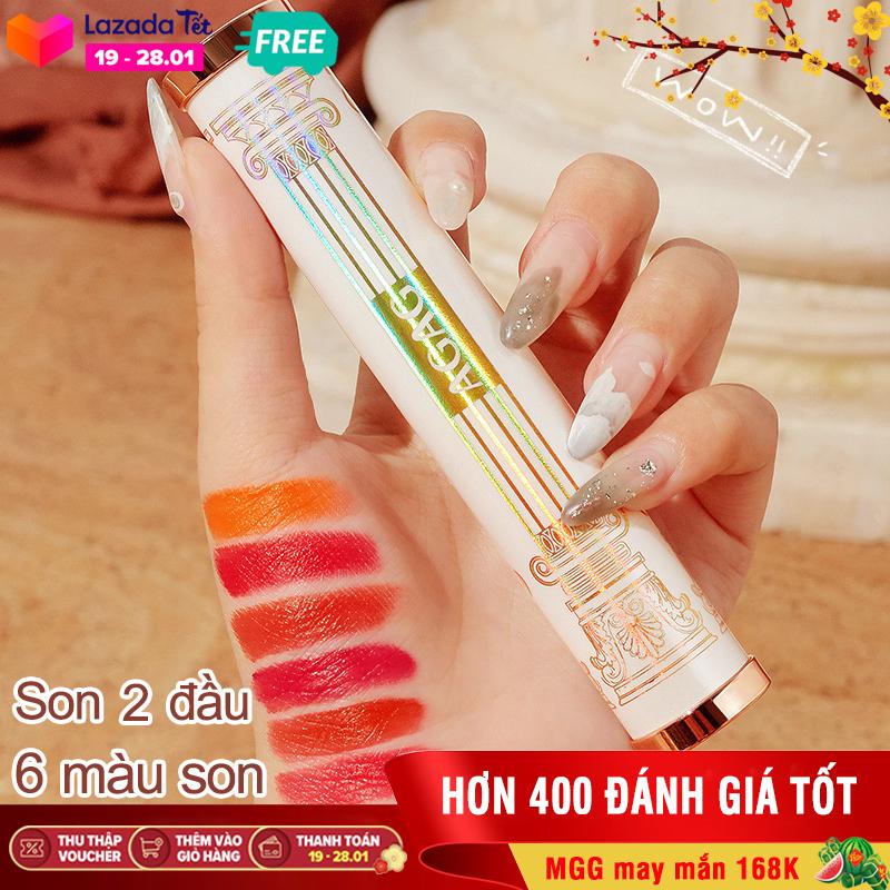 [Hàng độc] Son môi 6 màu AGAG son môi 2 đầu son nội địa Trung son lì có dưỡng son đổi màu son thỏi son 6 màu XP-SM271