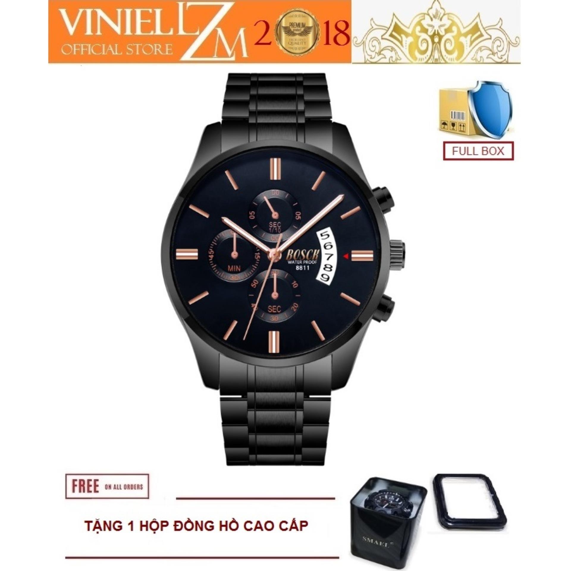 Nơi bán Đồng hồ nam dây thép thiết kế thời trang chống xước BCK-3ATM/51