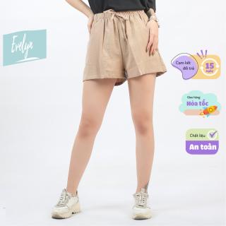 Quần đùi nữ chất đũi quần short nữ chất vải mềm cực mát Evelyn thumbnail