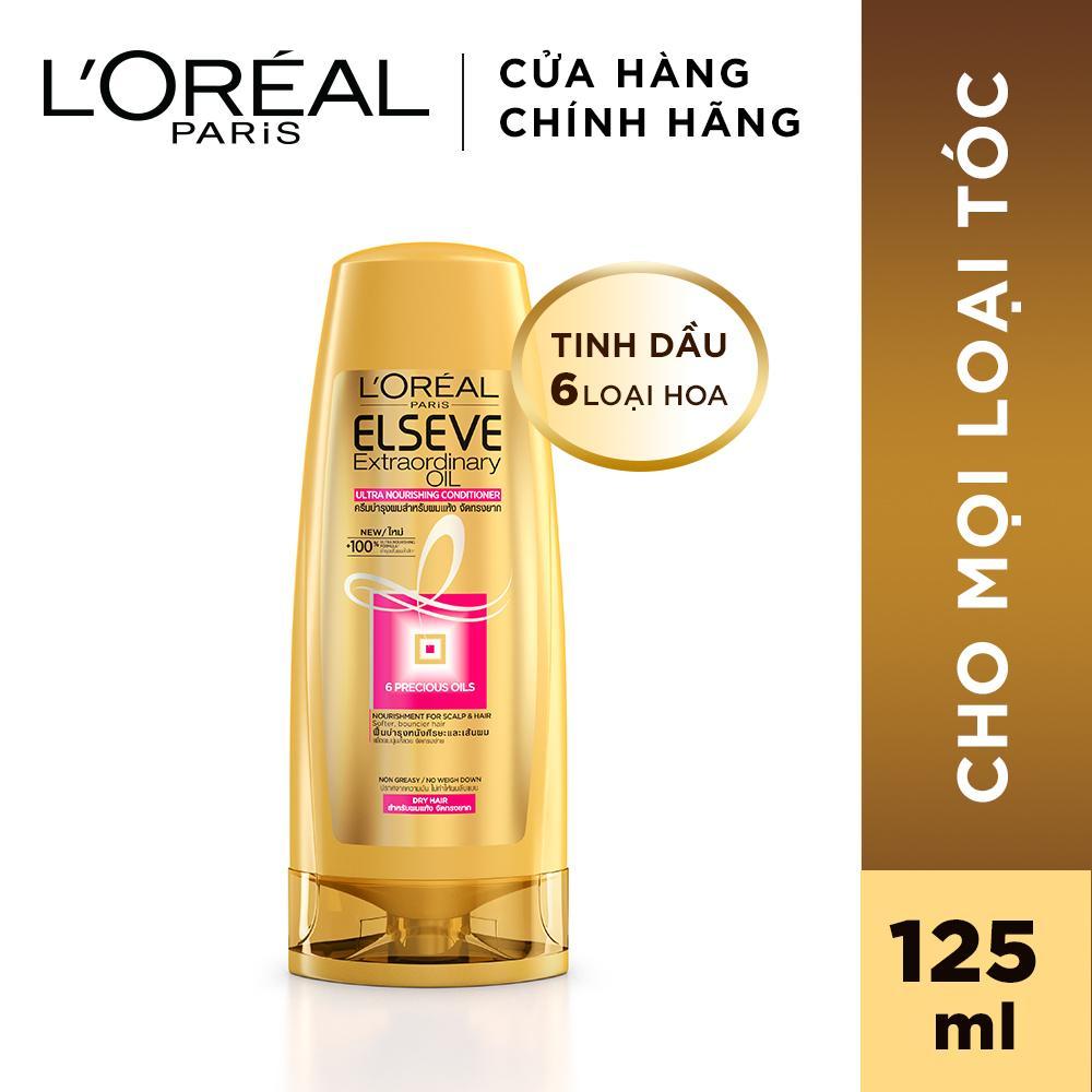 [QUÀ TẶNG KHÔNG BÁN] Dầu xả chiết xuất tinh dầu hoa tự nhiên LOreal Paris Elseve Extraordinary Oil Ultra Nourishing 125ml tốt nhất