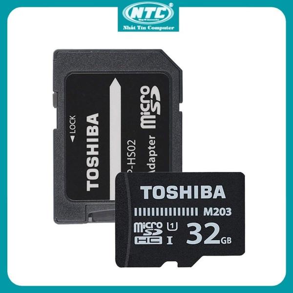 Thẻ nhớ MicroSDHC Toshiba M203 32GB UHS-I U1 100MB/s kèm Adapter (Đen) - Nhất Tín Computer