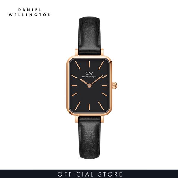 Đồng hồ Nữ Daniel Wellington dây da - Quadro Pressed Sheffield 20x26mm DW00100435