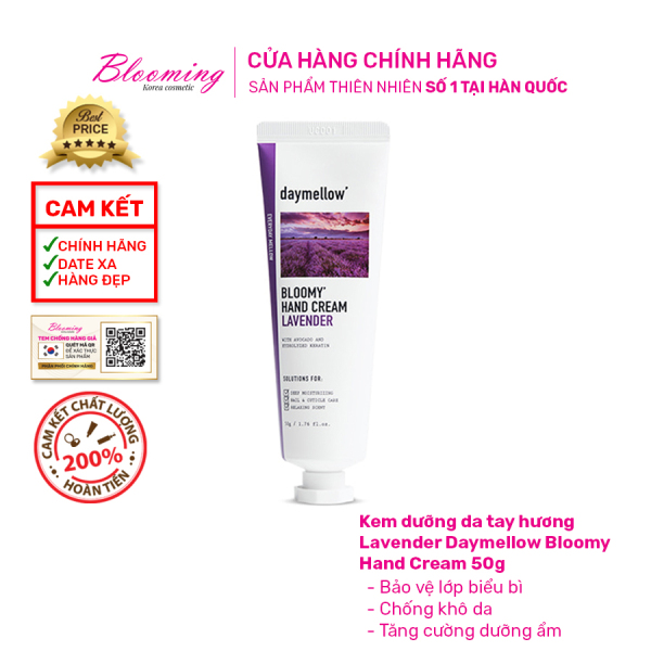 [New] Kem dưỡng da tay giữ ẩm cho da, ngăn ngừa lão hóa Daymellow Bloomy Hand Cream 50g