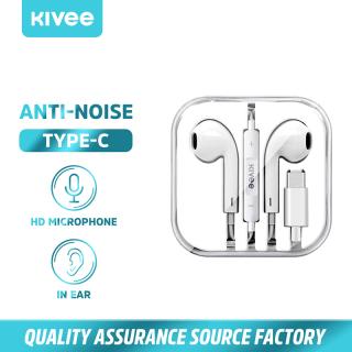 KIVEE Tai nghe nhét trong tai có mic HiFi 4D Tai nghe nhạc siêu trầm với giao diện Type-C cho điện thoại phổ thông Android Model MT31 thumbnail