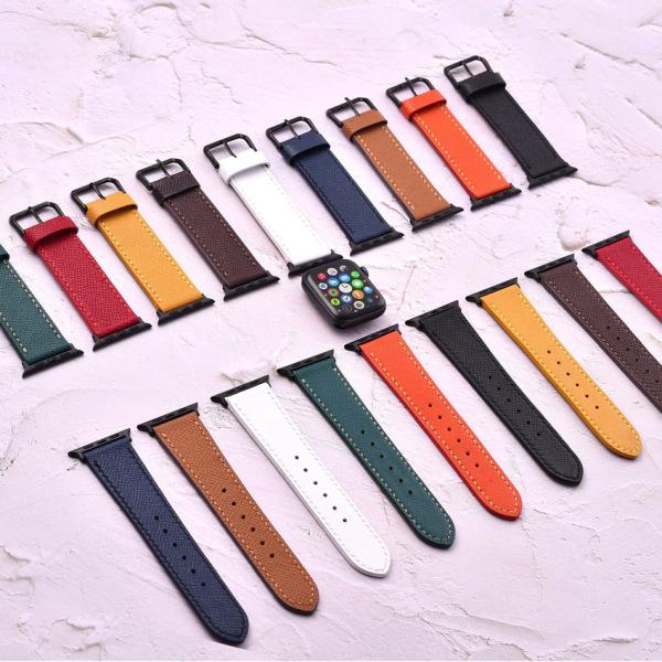 [FOCUS LEATHER] Dây đồng hồ apple watch - EPSOM , Dây Đeo Đồng Hồ Apple Watch , Dây da đồng hồ nam cao cấp FOCUS F01, da thật dành cho đồng hồ đeo tay, đồng hồ thời trang tặng kèm khóa đồng hồ + adapter, EDC, FOCUS, bán chạy