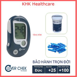 Máy đo đường huyết Clever Check TD 4230 tặng kèm 25 que thử tiểu đường thumbnail
