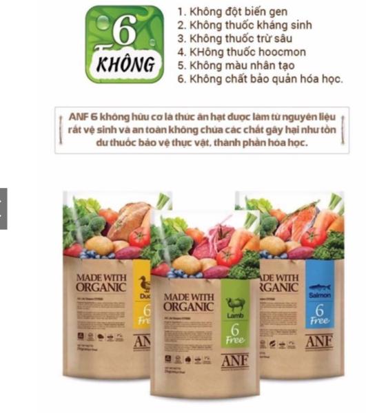ANF Thức ăn hạt hữu cơ cho chó - 3 VỊ CỪU, VỊT và CÁ HỒI dành cho mọi lứa tuổi