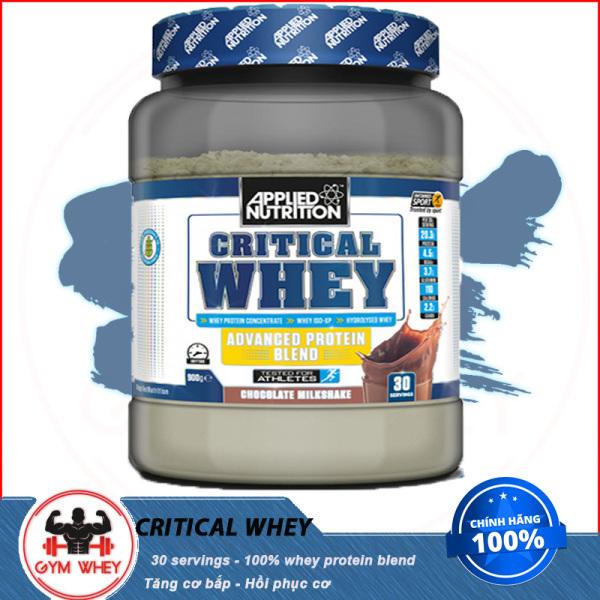 [HCM][Lấy mã giảm thêm 30%]Sữa Dinh Dương Tăng Cơ Nuôi Cơ Phục Hồi Cơ Bắp Applied Nutrition Critical Whey 30 Lần Dùng 900g Từ Anh (30 Serving) giá rẻ