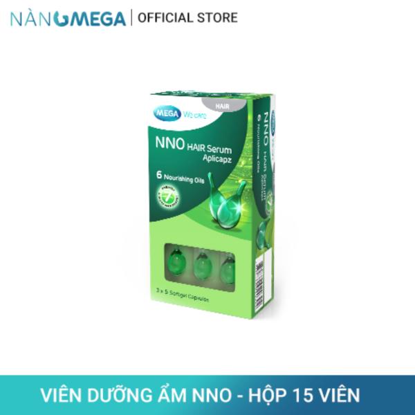 Serum dưỡng tóc NNO Hair hộp 15 viên ngăn ngừa 7 dấu hiệu hư tổn tóc từ 6 loại tinh dầu thiên nhiên nhập khẩu