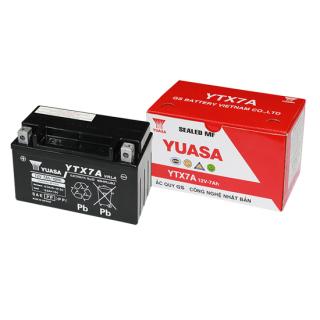 Bình Ắc Quy Khô GS YTX7A (12V-7AH), Bình ắc quy xe máy, acquy xe máy, bình ac quy, bình acquy, acquy 12v, bình ắc quy khô xe máy, acquy gs, ắc quy gs - BÌNH MF GS YTX7A (12V-7AH)Mã SP YTX7A dành cho xe tay ga, dòng xe số Honda, SYM, Piaggio thumbnail