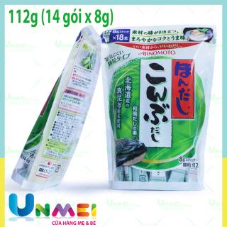 Hạt nêm rong biển Ajinomoto gói lớn cho bé loại 112g (14 gói x 8g) thumbnail