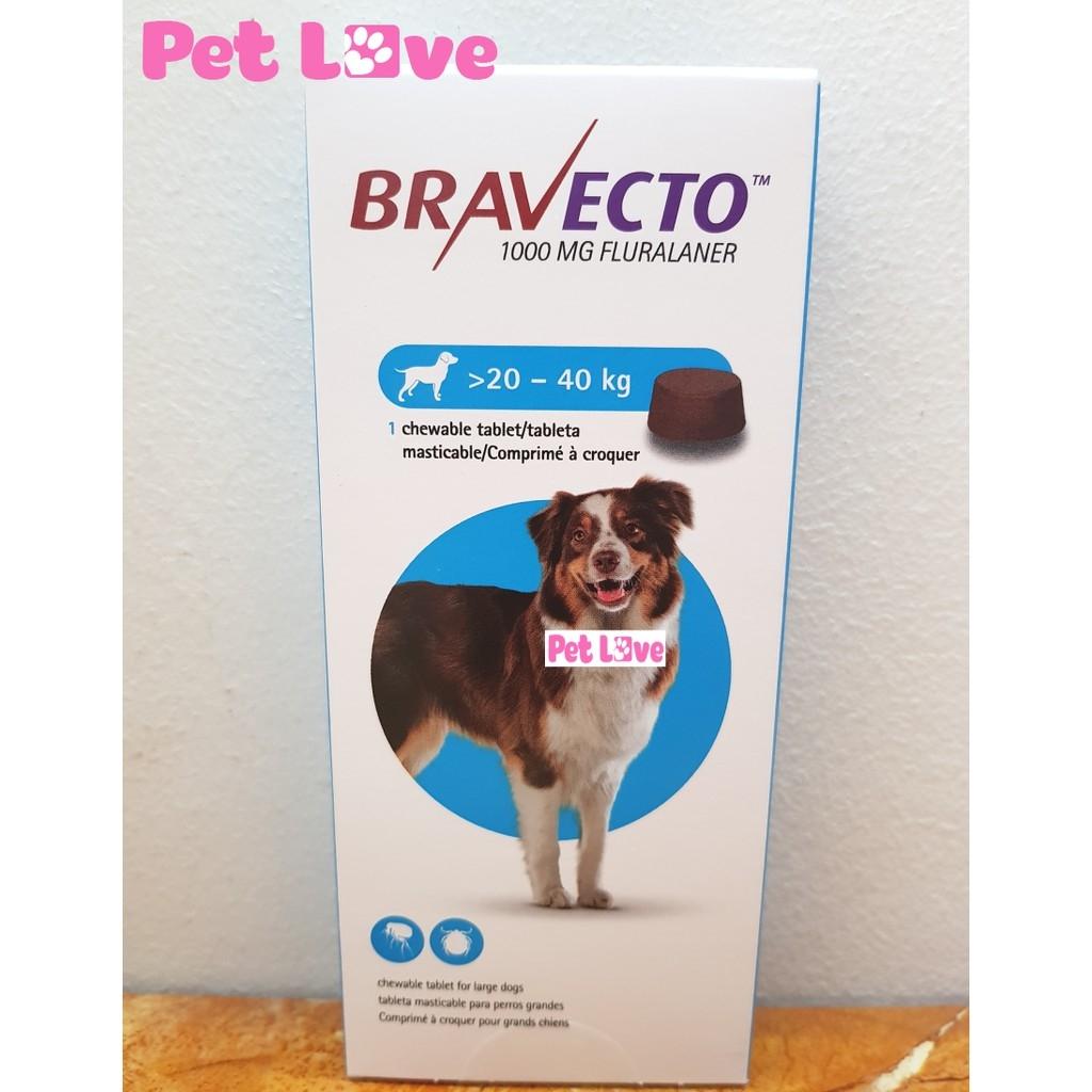 Mã Coupon Thuốc Bravecto Trị Ghẻ, Viêm Da, Ve Rận (chó Từ 20 - 40kg)