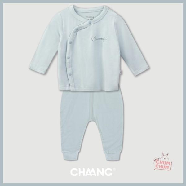 Nơi bán Set Bộ Dài Cotton Cúc Chéo Summer Xanh Da Trời 0-6M Chaang Babychumchum