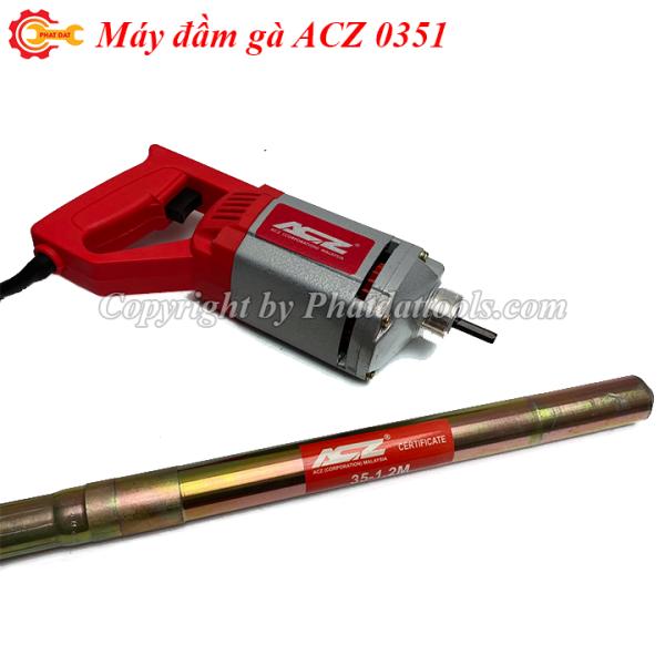 Máy đầm dùi betong cầm tay ACZ 0351-Kèm sẵn dây đầm-Bảo hành 6 tháng